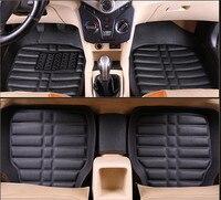 Car Floor Mats Universal for Renault kadjar Koleos Megane Laguna Fluence Captur Latitude Car Leather floor mat carpet liner