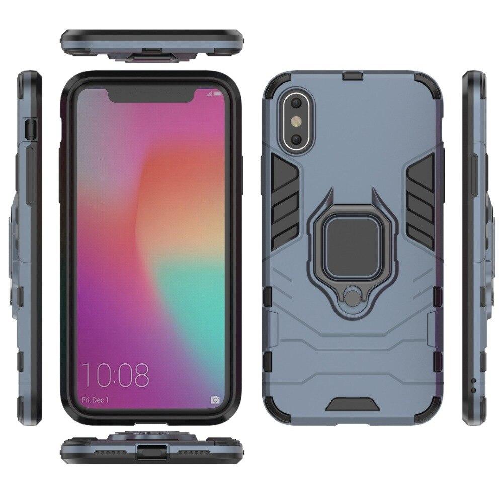 100 stks/partij 2 in 1 Hybrid Shockproof cover Armor Ring cover Case Voor Iphone Xs max Xr X 8 7 6 plus 5-in Half verpakt Geval van Mobiele telefoons & telecommunicatie op AliExpress - 11.11_Dubbel 11Vrijgezellendag 1