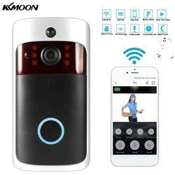 Умный беспроводной WiFi дверной звонок безопасности визуальная запись потребление удаленный домашний мониторинг ночного видения умный виде...