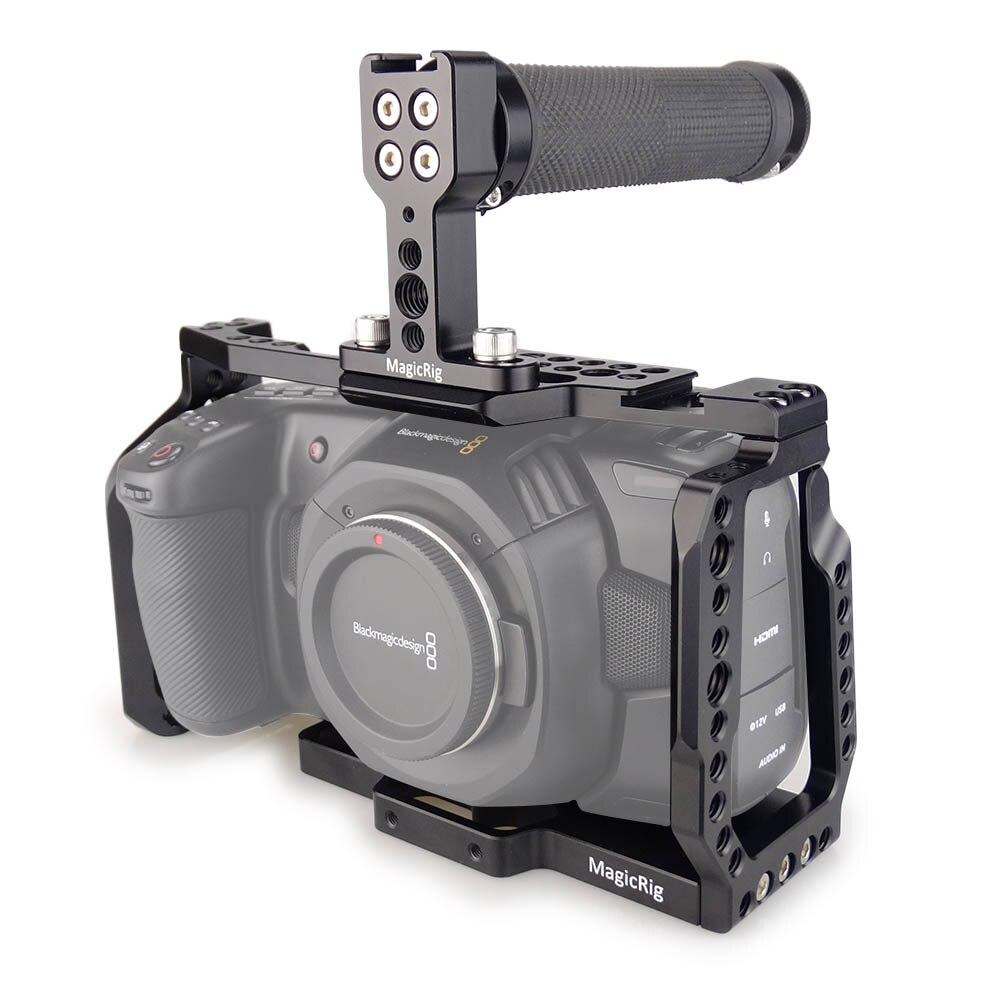 MAGICRIG BMPCC 4K клетка с верхней резиновой ручкой для Blackmagic Pocket Cinema Camera BMPCC 4 K/BMPCC 6K