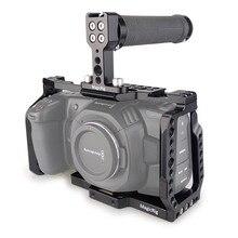 MAGICRIG BMPCC Gabbia di 4K con la Parte Superiore In Gomma Maniglia per Blackmagic Pocket Cinema Macchina Fotografica BMPCC 4 K/BMPCC 6K