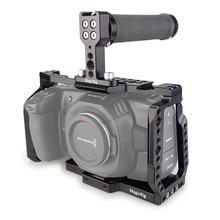 Magicrigbmpcc قفص 4K مع مقبض مطاطي علوي لكاميرا بلاكماجيك جيب سينما BMPCC 4 K/BMPCC 6K
