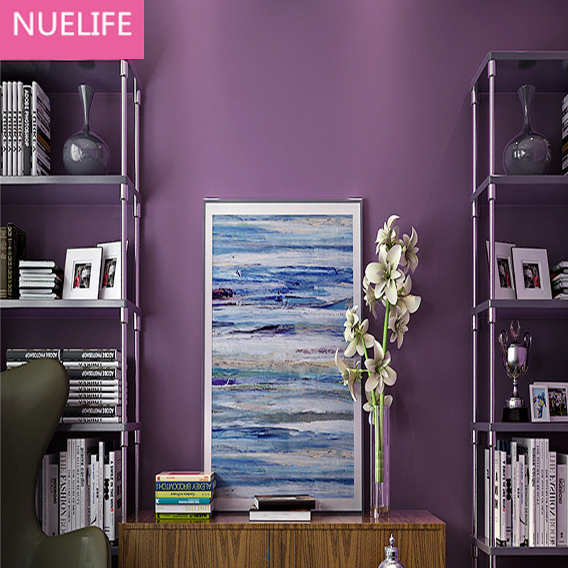0.53x10 Meter Romantic Purple Nonwovens Wallpaper Wedding Room Kids Room Living Room Bedroom TV Wall Decorative Wallpaper видеокарта powercolor 4096mb rx 570 red dragon axrx 570 4gbd5 3dhd oc 3xdp hdmi dvi ret