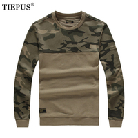 TIEPUS brand autumn new round neck sweater men's self cultivation camouflage army green wind tactical sweater pullover men