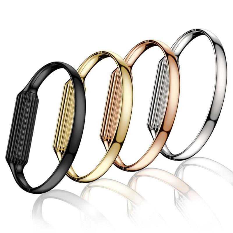 imágenes para 2017 Accesorio de Moda Genuino Brazalete de la Pulsera de Reloj de Lujo Banda de Acero Inoxidable Correa de Muñeca Inteligente Para Fitbit Flex 2