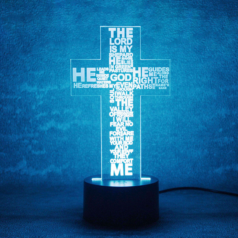 Luzes da Noite usb 3d led visual letras Formato : Cross Letters