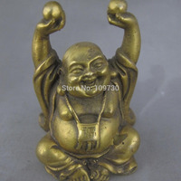 001271 China exquisite handmade old bronze statue (Laughing Buddha to treasure )
