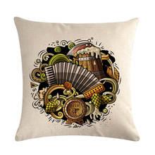 Oktoberfest Pub Best Beez Heze Pillow Cover Cartoon Linen Cushion Covers