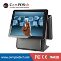 "Cheap 15""/15"" Dual screen All in One Touch EPOS System/POS Terminal/Billing Machine Black"