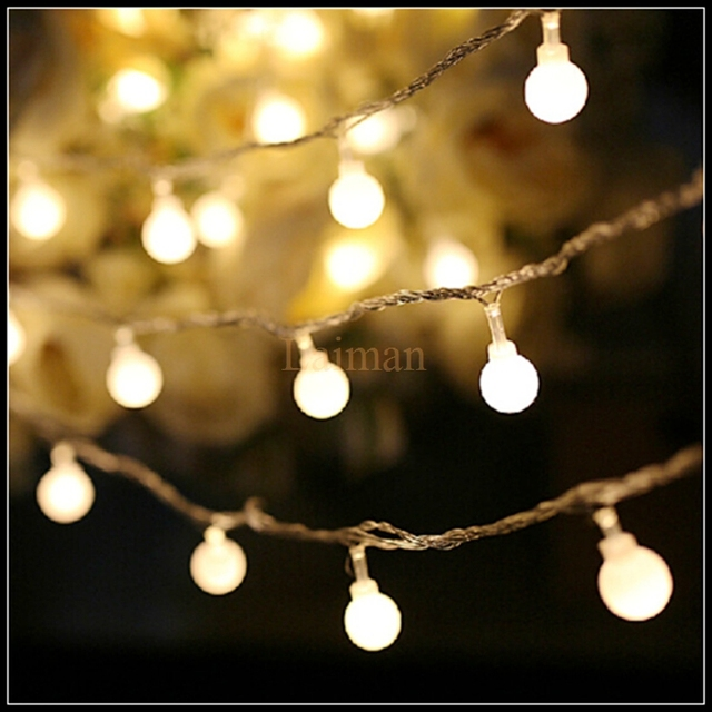 10M 100 LED Globe String Lights 9 Colours Ball Fairy Light for ...