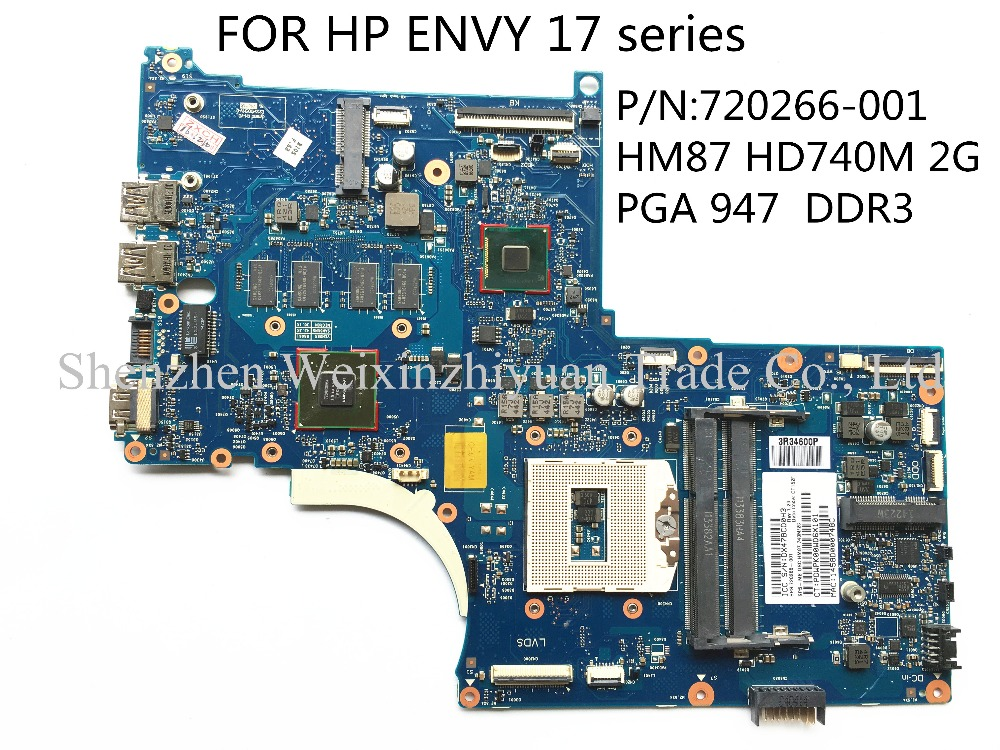 FOR HP ENVY 17 series 720266-001 laptop motherboard HM87 HD740M 2G PGA 947 DDR3 100% tested