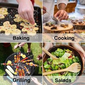 Image 4 - 100ml 2 szt. Szklany dozownik do oliwy z oliwek z pędzelkiem do czyszczenia pusta butelka dozownik oleju piknik sałatka grillowanie kuchnia zestaw narzędzi do gotowania