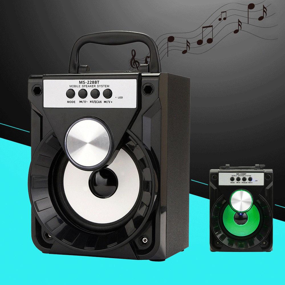 228BT/226BT Outdoor High power output Bluetooth Portable Speaker Super Bass Wireless LED lamp loudspeaker with USB/TF/AUX/FM