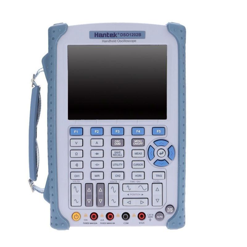 Hantek DSO1202B Handheld Oscilloscope 2CH 200MHz 1GSa/s 1M Memory Depth oscilloscope with 6000 multimeter Factory direct sales updated from dso 1060 hantek dso1062b handheld oscilloscope 2 channels 60mhz 1gsa s sample rate 1m memory depth 6000 counts dmm