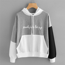 New Style Womens Letters Long Sleeve Hoodie Sweatshirt Hooded Pullover Tops Blouse Fashion Hot Sales Sweatshirt Wolovey#20
