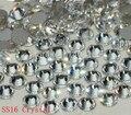 Super Brillante 1440 UNIDS 16SS SS16 3.8-4mm posterior Plana Claro Glitter Hotfix Pegamento no Fija de Cristal de Color Nail Art Flatback