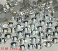 Super Shiny 1440PCS SS16 3.8-4mm Flat back 16SS Clear Glitter Non Hotfix Glue Fixed Crystal Color Nail Art Flatback Rhinestones