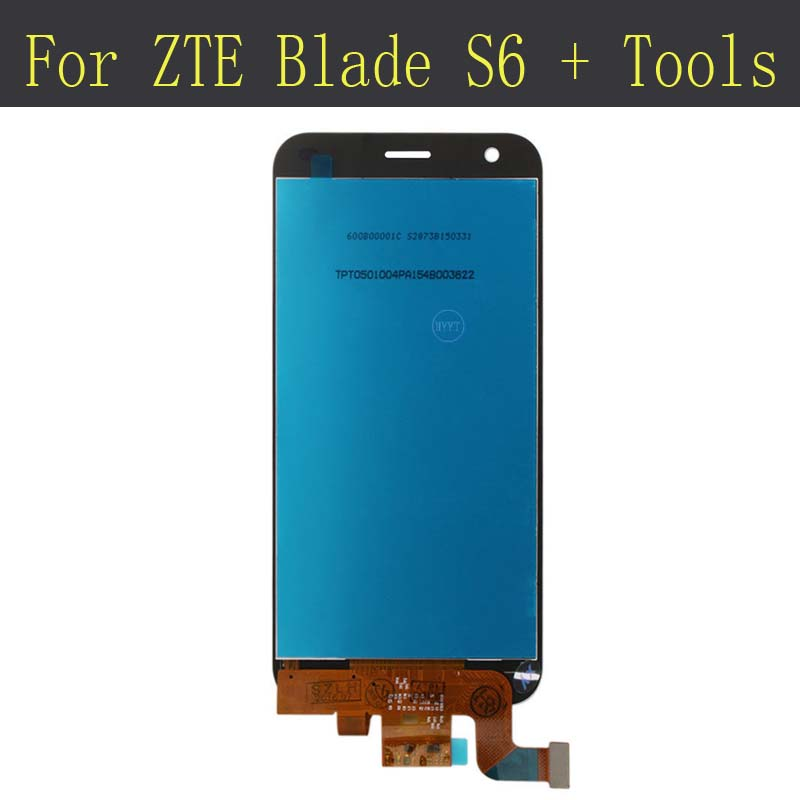 Original tested LCD Display +Touch Screen Assembly Replacement For ZTE Blade S6 + Tools