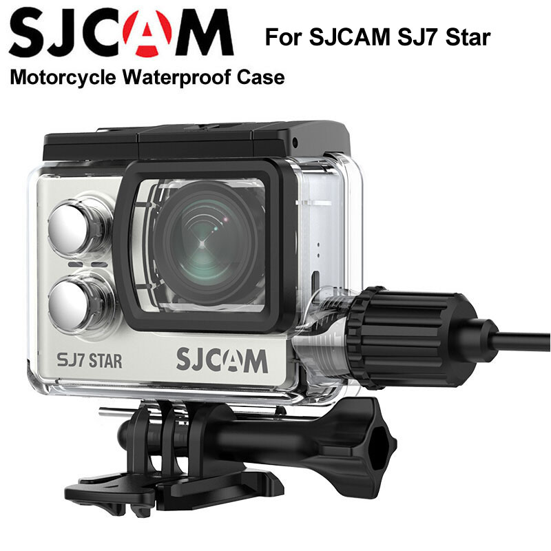 Original SJCAM SJ7 Star Motorcycle Waterproof Case sj cam sj7 housing Shell For SJCAM SJ7 Star Sports Action Camera Accessories refurbished original sjcam sj7 star wifi action camera 4k