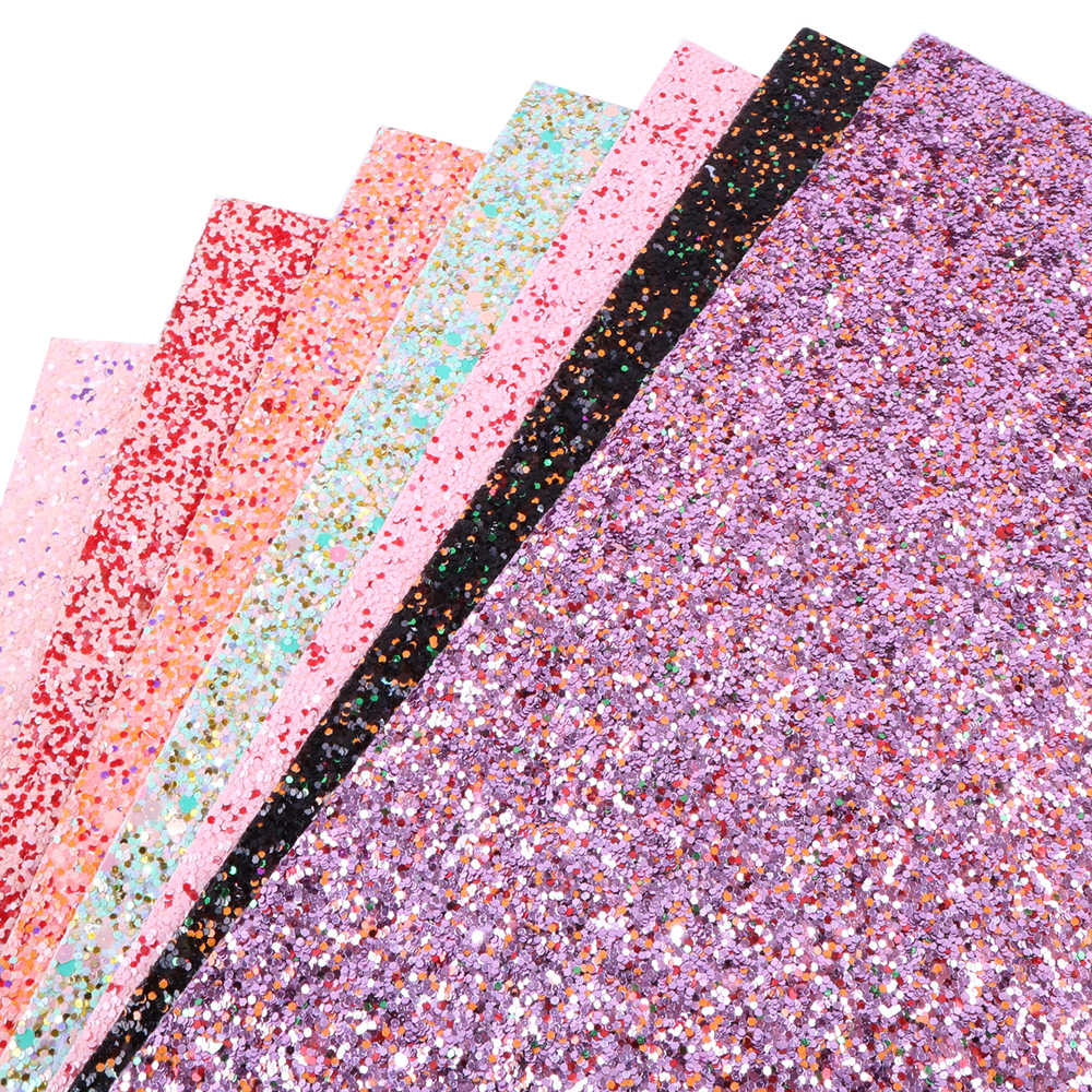 David accessories 20*34CM Glitter Faux Synthetic Leather Fabric For Hairbow,DIY Bags Shoes Material Decoration,1Yc4136