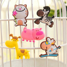Colorful Fridge Magnet Cartoon Animals Novelty Magnets Kid's Fun for kids Small Size Silicone Gel magnetic fridge magnet(China)