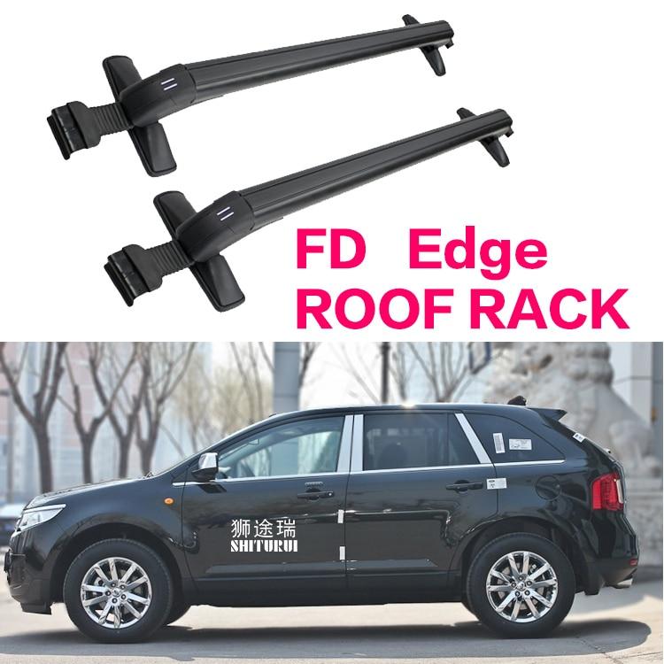 Car Luggage Rack Crossbar Roof Rack FOR Ford Edge 5 DOOR 2009-2014 SUV LOAD 150KG BAR LED