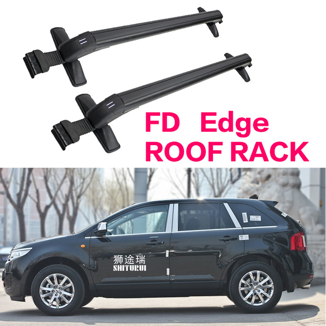 Car Luggage Rack Crossbar Roof Rack For Ford Edge   Suv Load