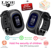 LIGE 2019 New Kids Watch Smart Watch For Children SOS Call Location Finder Locator Tracker Anti Lost Monitor Children Gift+Box(China)