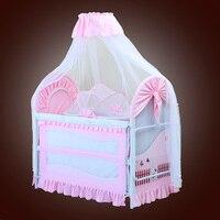 Складная новая детская кровать с москитной сетка мат набор портативная складная кроватка с многофункциональным новорожденным сон кровать