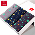 New Promotion Real Fashion Star Printing 100% Cotton Men Underwear U Convex Sexy Extra Large Size Boxers Shorts L-5xl 4pcs/lot