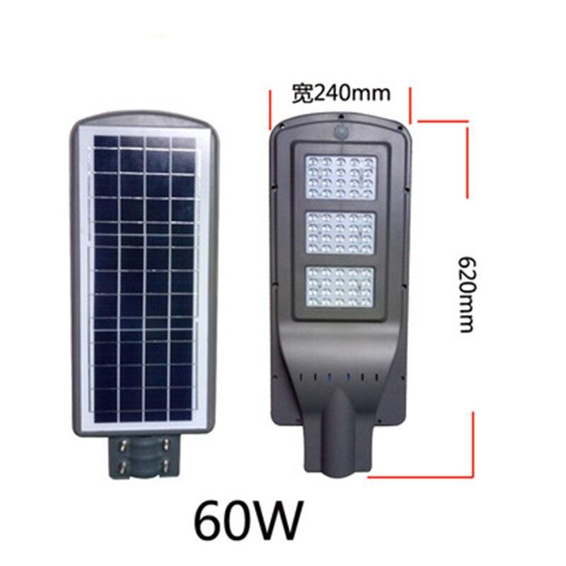 Luz de calle Solar impermeable al aire libre 60 W LED patio lámpara de jardín lámpara de pared control de luz y modo de control de radar
