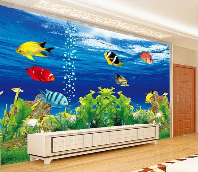 Aquarium wallpaper for walls wall murals ideas for Aquarium mural wallpaper