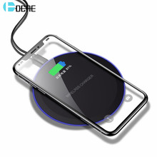 DCAE Wireless Charger for Samsung Galaxy S8 S9 Note 9 8 USB Qi Wireless Charger for iPhone XS Max X 8 Plus Wireless Charging Pad(China)