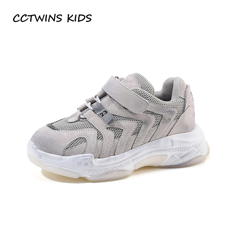 $26.80 CCTWINS Kids Shoes 2019 Spring Fashion Girls Real Leather Casual Shoes Boys Running Sports Sneakers Children Baby Trainer FS2797