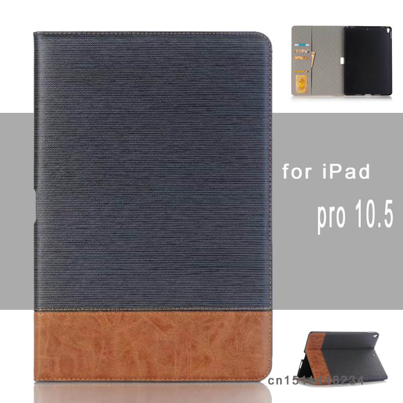 For ipad pro 10.5 Luxury Business Shockproof Flip Wallet Stand Smart Cover pu Leather Case for ipad Pro 10.5 protective case for ipad pro 9 7 retro crocodile stand wallet smart leather cover dark blue
