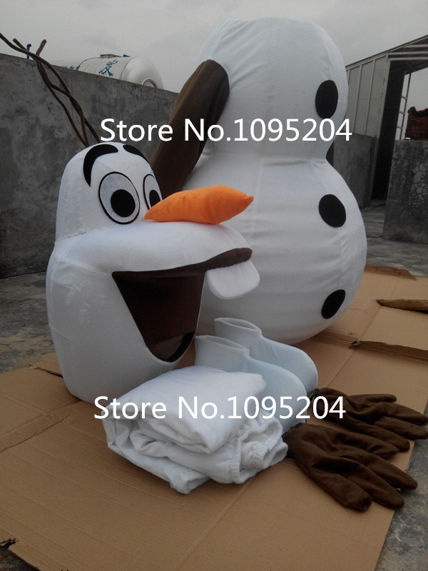Glimlachend Olaf Mascot Costume Cartoon Character Costume gratis - Carnavalskostuums