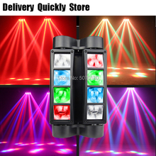 Fastshipping Mini dj LED Beam Spider 8x10W RGBW Moving Head Lighting disco LED Stage Light Good For Parties Wedding Decoration цена и фото