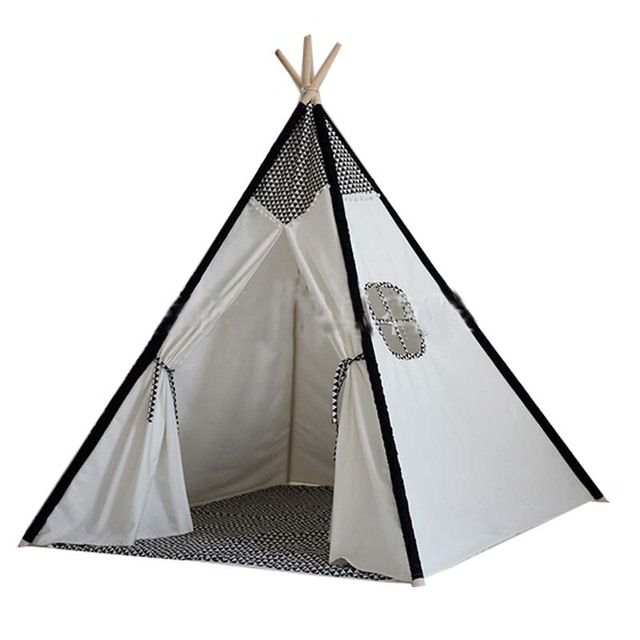 Lovely cartoon teepee kid play tent cotton canvas kids teepee white playhouse fabric children bed tent  sc 1 st  AliExpress.com : cartoon tent images - memphite.com