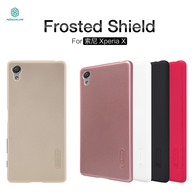meet 5f021 7b02e US $7.99 |Original Nillkin Frosted Case for Sony Xperia X F5121 Dual F5122  Cover Phone Cases Protective Shell with Clear Screen Protector on ...