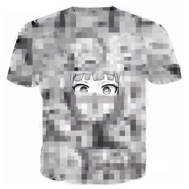 Ahegao Anime T Shirt Men...