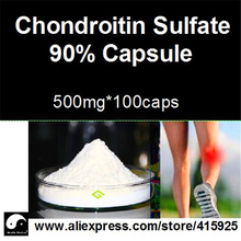 500mg*100caps 90% Chondroitin Sulfate Powder Capsule Sports Arthrosis Health Care Supplements For Men Fitness