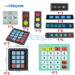 1*2 1*3 1*4 1*5 1*6 4*3 4*4 4*5 przycisk klucza klawiatura membranowa macierzy macierzy klawiatura Panel sterowania Pad DIY zestaw do arduino