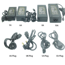 DC12V 5A 6A 10A led power supply  AC to DC LED adapter transformer 100-240v 12v Driver EU/US/UK/AU for strip light