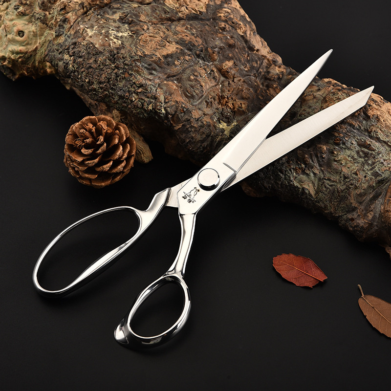 Professional Senior Stainless Steel Tailor Scissors Leather Fabric Clothing Embroidery Sewing Shears tools for sewing