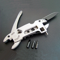 Multifunctional Survival Folding Knife Camping Screwdriver Tool Pliers Hunting Outdoor Self Defense