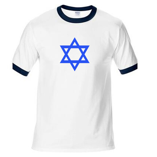 9508c05e anime Star Of David Israel Jewish T-Shirt Men's Shirts man raglan top tees  ringer tee fashion boy present funny