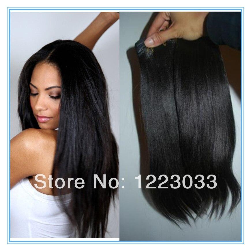 Stock Virgin Brazilian Light Yaki Hair Fast Shipping Human Virgin