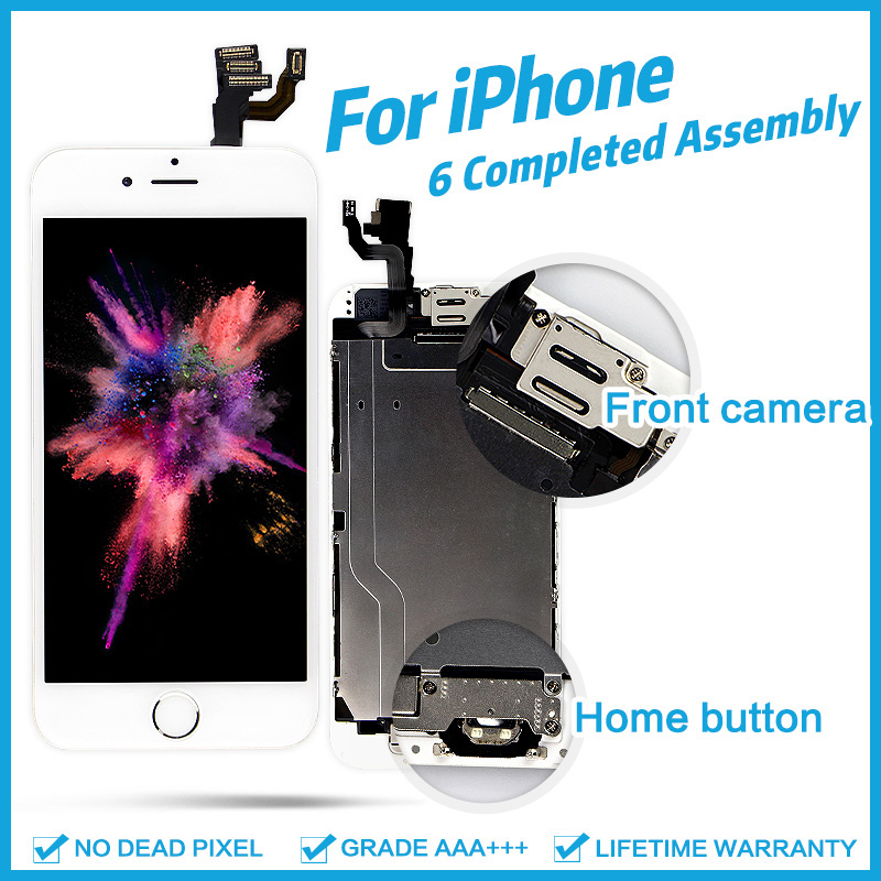 AAA + + + para iPhone 6 iPhone 6 Plus, 6 S Plus LCD asamblea completo 100% con 3D fuerza pantalla táctil reemplazo de pantalla píxel muerto