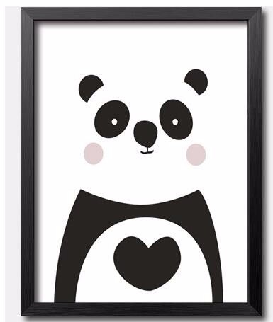 Cute Panda Canvas Prints Poster For Kids Room Decor,Minimalist Nordic  Nursery Wall Pictures.not Oil Painting,no Frame 7 Sizes
