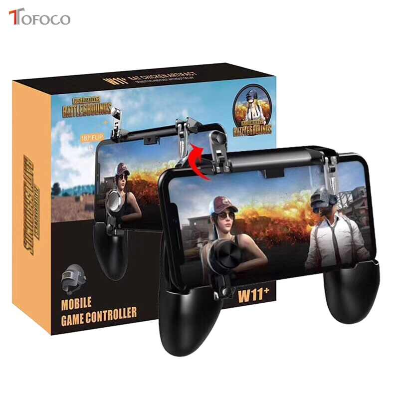 W11 For PUBG Moblie Phone Wireless Control Controller Gamepad for Android IOS Phone Games For Knives Out Rules of Survival